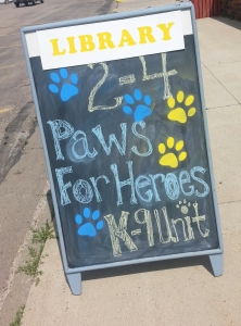 Paws Sign Board