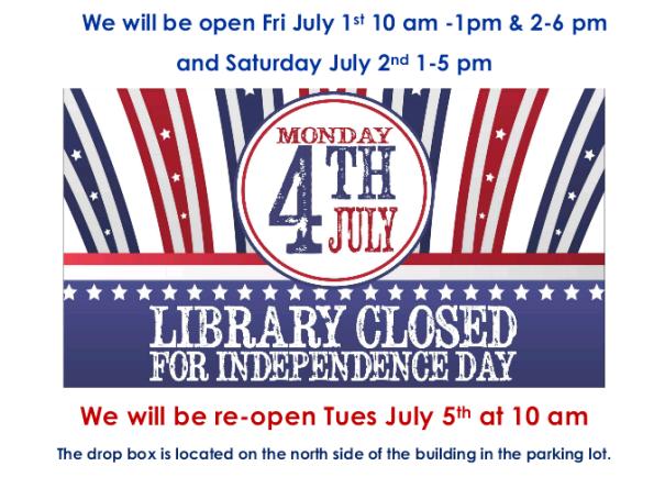 Closed July 4th 2016